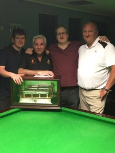 Hey's Trophy winners Undercliffe Cricket Club B – from left: Paul Davey, Phil Gaunt, Damien Bentley and Dave Stirk