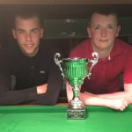 Bradford Snooker Pairs winners Russell Morgan, left, and Josh Walker, who beat former champions on both the quarter-finals and semi-finals